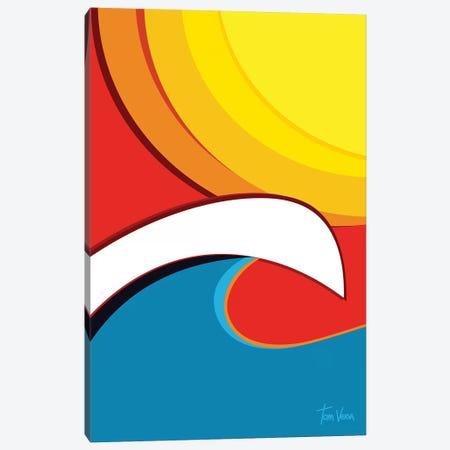 Surfing Canvas Print #TVE52} by Tom Veiga Canvas Wall Art