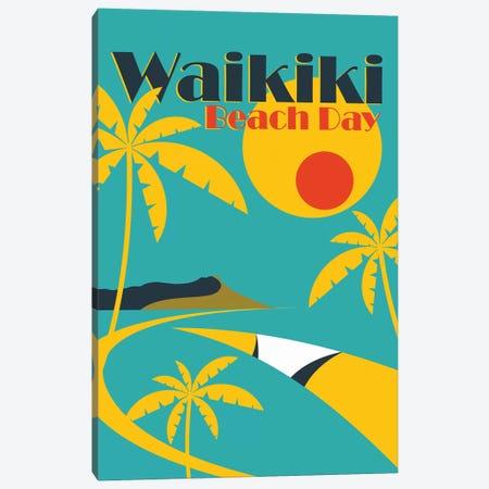 Waikiki Canvas Print #TVE59} by Tom Veiga Canvas Wall Art