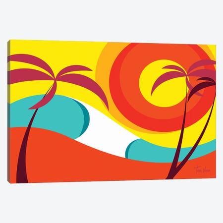 Wave Colors Canvas Print #TVE61} by Tom Veiga Canvas Print