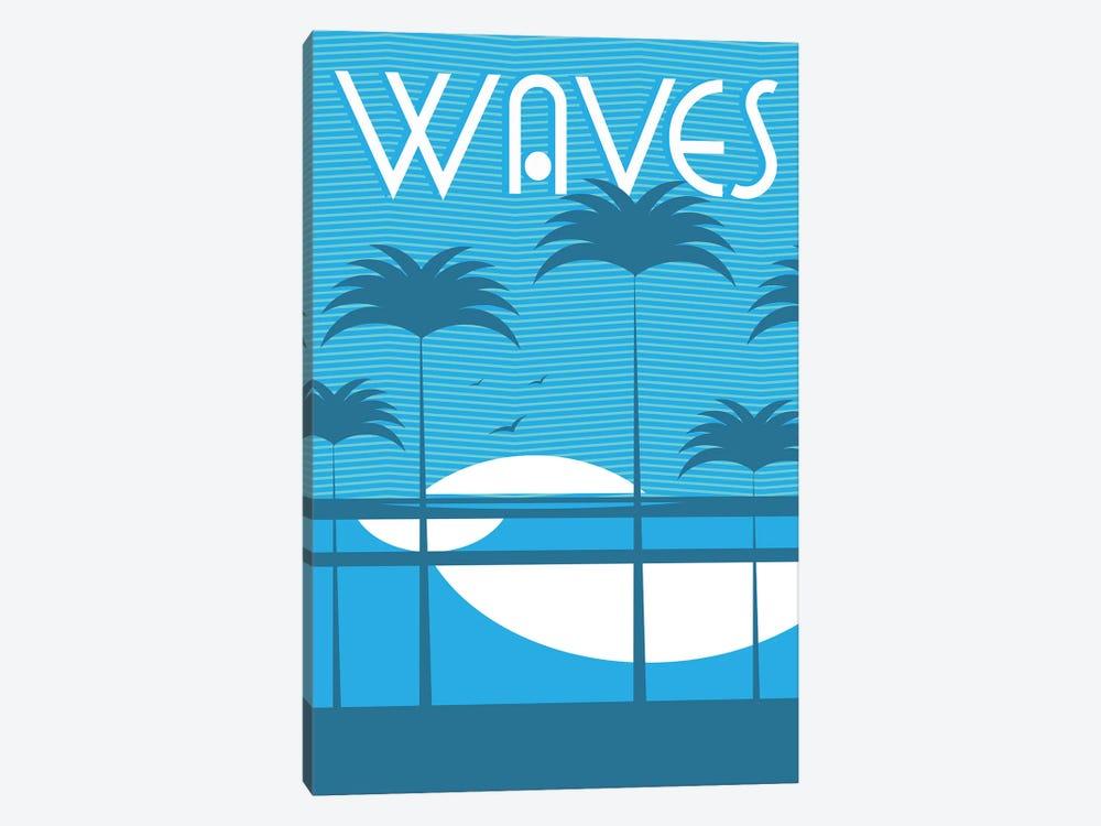 Waves by Tom Veiga 1-piece Canvas Artwork