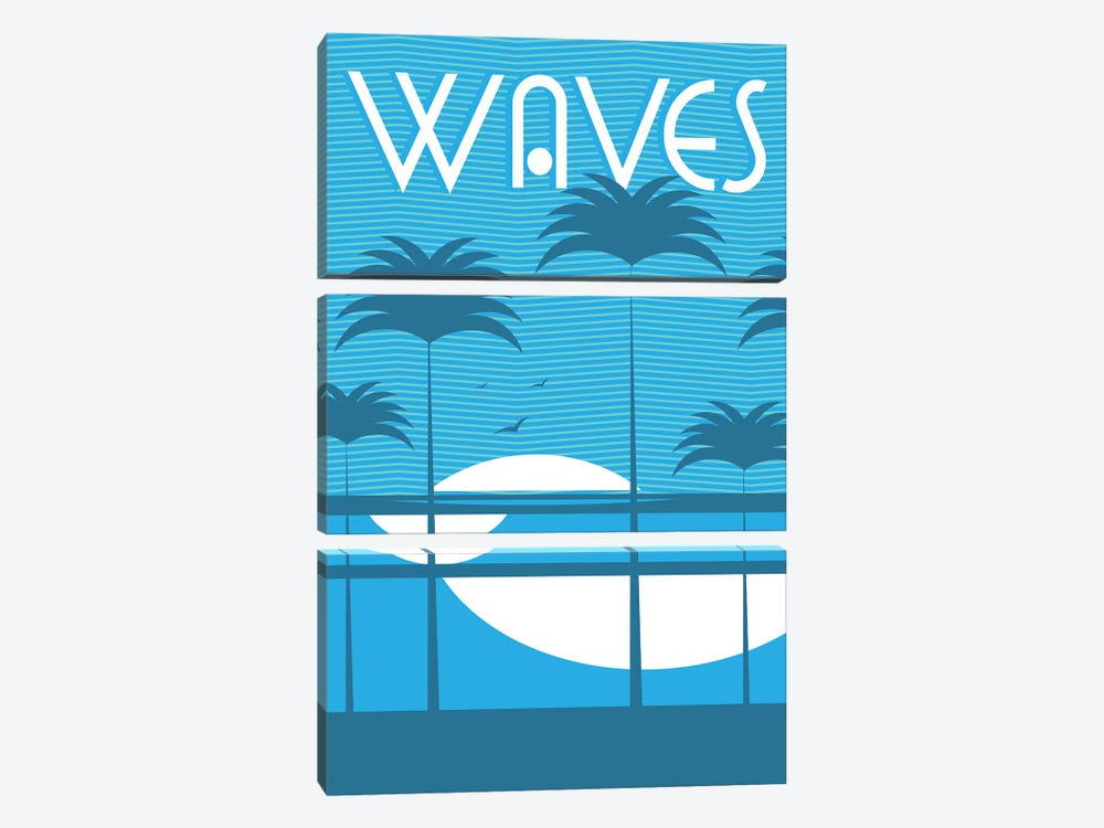 Waves by Tom Veiga 3-piece Canvas Wall Art