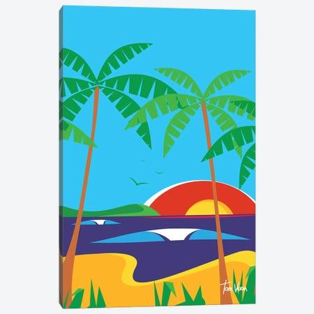 Beach Day Canvas Print #TVE66} by Tom Veiga Canvas Artwork