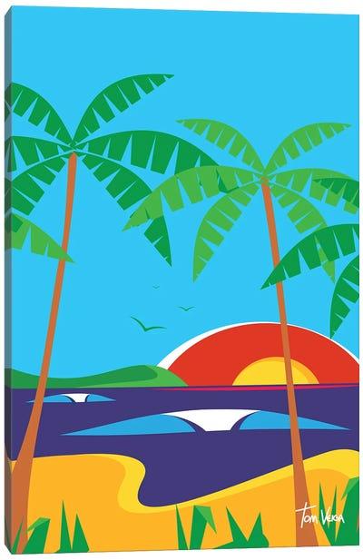 Beach Day Canvas Art Print