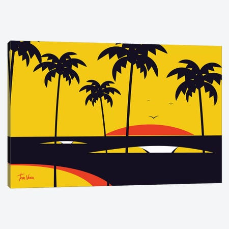 Big Swell Canvas Print #TVE6} by Tom Veiga Canvas Art Print