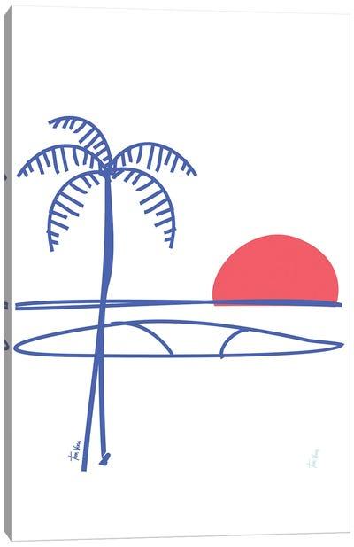 Surfing Canvas Art Print