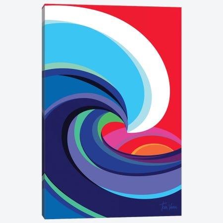 Big Wave Canvas Print #TVE7} by Tom Veiga Art Print