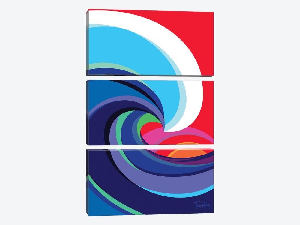 Big Wave by Tom Veiga 3-piece Canvas Artwork