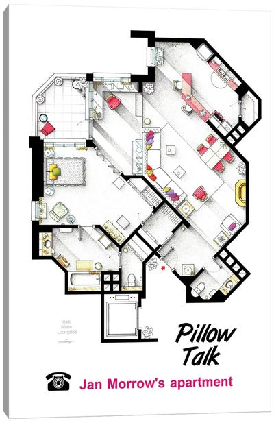 Apartment From Pillow Talk Canvas Art Print