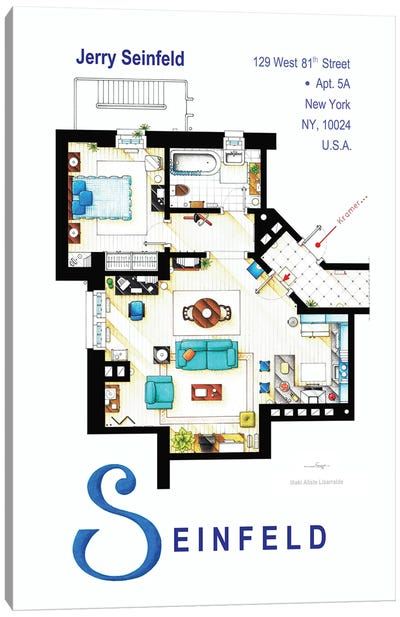 Apartment From Seinfeld Canvas Art Print