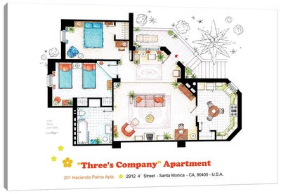 Apartment From Three's Company Canvas Art Print