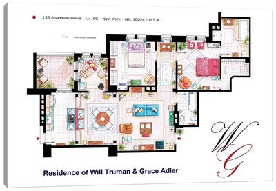 Apartment From Will & Grace Canvas Art Print