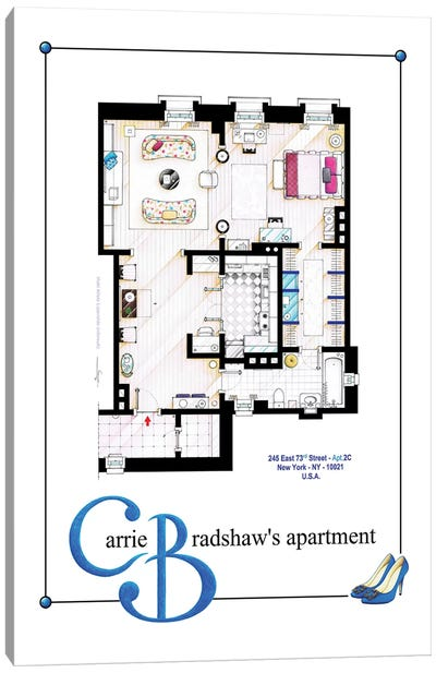 Apartment Of Carrie Bradshaw From Sex & The City Film - Poster Version Canvas Art Print