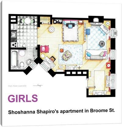 Apartment Of Shoshanna Shapiro From Girls Canvas Art Print