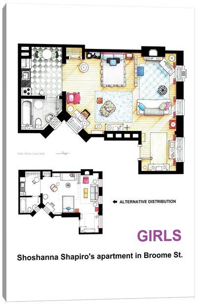 Apartment Of Shoshanna Shapiro From Girls -Alternative Version Canvas Art Print