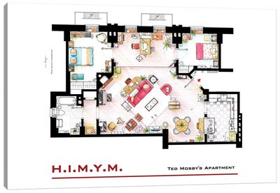 Apartment Of Ted Mosby From How I Met Your Mother Canvas Art Print
