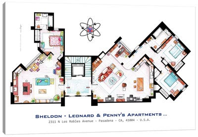 Apartments From The Big Bang Theory Canvas Art Print