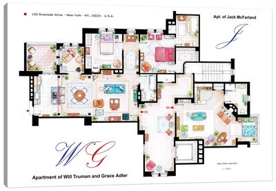 Apartments Of Will & Grace (And Jack) From Will & Grace Canvas Art Print