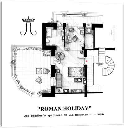 Attic/Studio From Roman Holiday Canvas Art Print