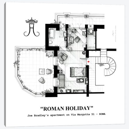 Attic/Studio From Roman Holiday Canvas Print #TVF29} by TV Floorplans & More Canvas Art