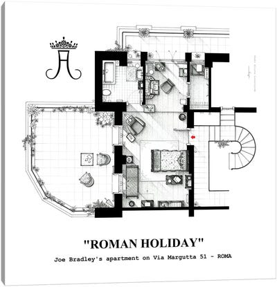 Attic/Studio From Roman Holiday Canvas Art Print