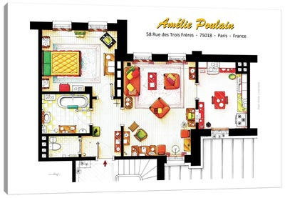 Apartment From Amelie In Paris Canvas Art Print