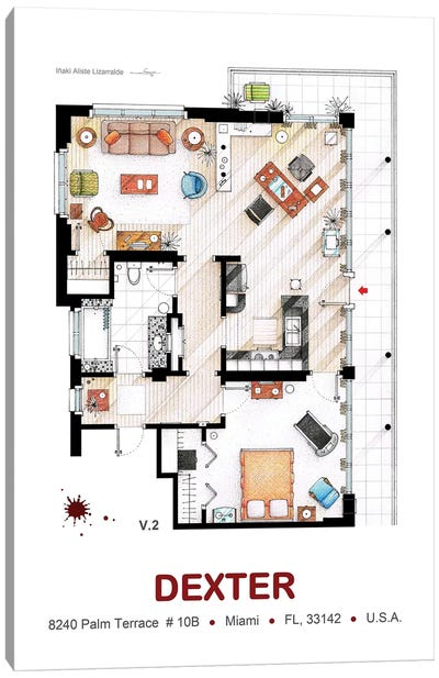 Dexter Morgan's Apartment  Canvas Art Print