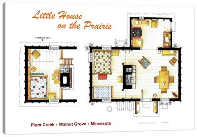 House From Little House On The Prairie Canvas Art Print