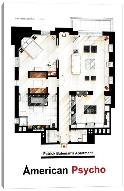 Apartment From American Psycho Canvas Art Print