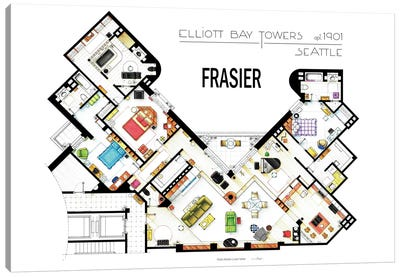 The Apartment From Frasier Canvas Art Print