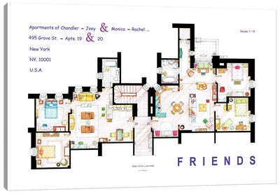 The Apartments From Friends Canvas Art Print