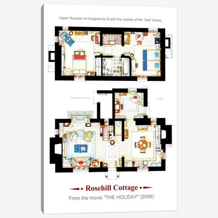 The Holiday Both B Canvas Print #TVF48} by TV Floorplans & More Canvas Wall Art
