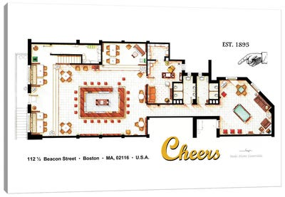The Bar From Cheers Canvas Art Print