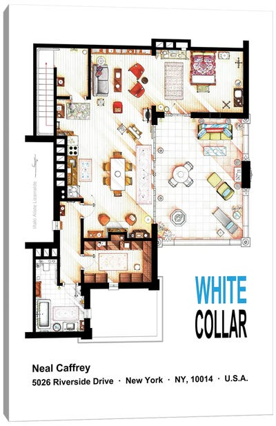 Home From White Collar Canvas Art Print