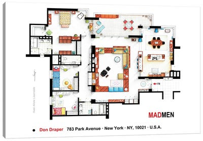 Don Draper's Apartment From Mad Men Canvas Art Print