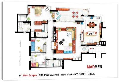 Don Draper's Apartment From Mad Men Canvas Art Print