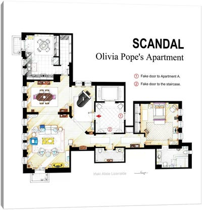 Olivia Pope's Apartment From Scandal Canvas Art Print