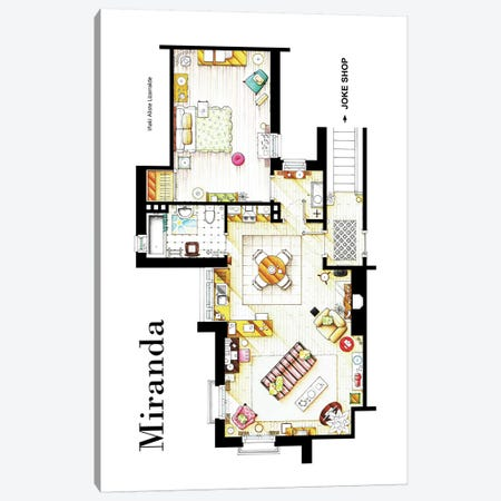 Apartment From BBC's Miranda Series Canvas Print #TVF5} by TV Floorplans & More Canvas Artwork