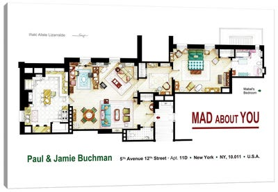 Floorplan from MAD ABOUT YOU TV series Canvas Art Print