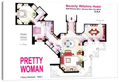 Floorplan of the suite from PRETTY WOMAN Canvas Art Print
