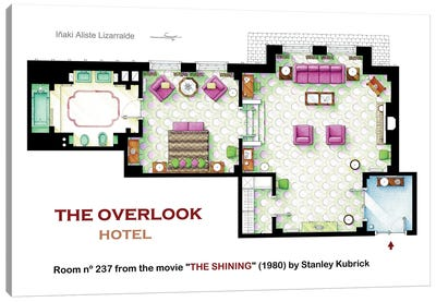 Floorplan of room 236 from THE SHINING Canvas Art Print