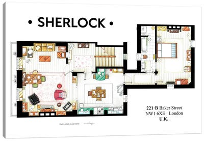 Apartment From BBC's Sherlock Series Canvas Art Print