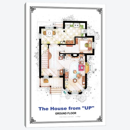 Floorplan From Up - Ground Floor Canvas Print #TVF72} by TV Floorplans & More Canvas Print