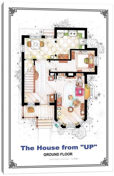 Floorplan From Up - Ground Floor Canvas Art Print