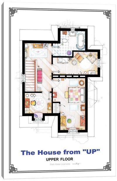 Floorplan From Up - First Floor Canvas Art Print