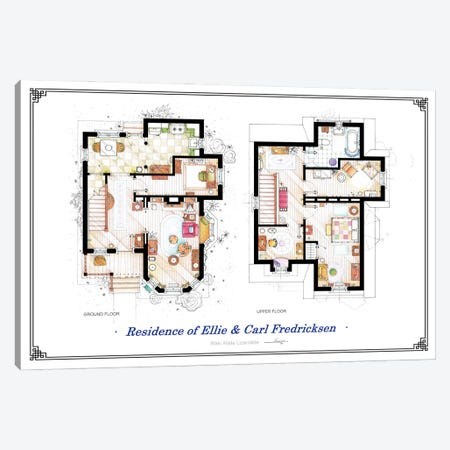 Floorplans From Up - Both Canvas Print #TVF74} by TV Floorplans & More Canvas Artwork