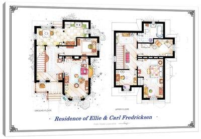 Floorplans From Up - Both Canvas Art Print