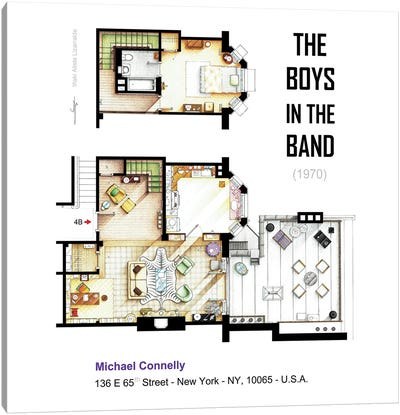 Apartment From The Boys In The Band (1970) Canvas Art Print