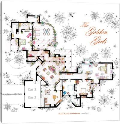 Floorplan From The Golden Girls Canvas Art Print