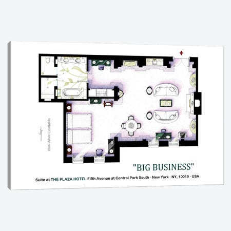 Suite From Big Business Canvas Print #TVF82} by TV Floorplans & More Canvas Art