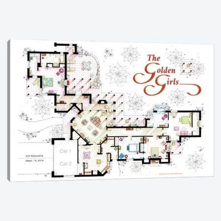 Floorplan From The Golden Girls Tv Series Canvas Print #TVF85} by TV Floorplans & More Art Print